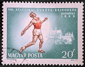 Stamp Hungary SG2212 1966 20f European Athletics Championship Budapest Used