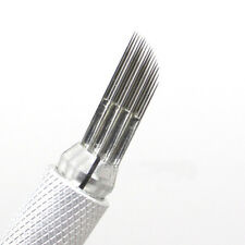50pcs 3 Row 16 Shading needle Permanent Makeup Eyebrow Tattoo Blade Microblading
