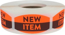 New Item Grocery Market Stickers, 0.75 x 1.375 Inches, 500 Labels on a Roll