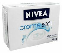 Nivea Creme Soft with Almond Oil Bar Soap 100g. (Pack of 4)