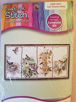 NEW Sealed Janlynn Four Seasons Birds Counted Cross Stitch Kit 18 x 10