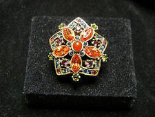 "Heidi Daus ""Breathless Flower"" Swarovski Crystal Ring Size 8"