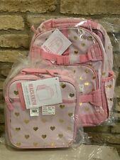 Girls Pink Preschool Toddler Childrens Backpack /& Lunch Box Set Musical Hearts