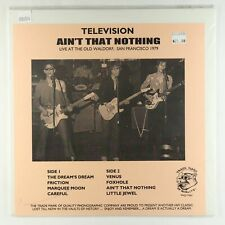 Television - Ain't That Nothing LP - TMOQ SEALED