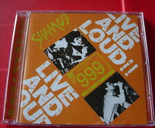 Sham 69/999 Live And Loud CD NEW Punk Hersham Boys/Homicide/Borstal Breakout+