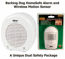 HomeSafe Barking Dog Alarm AND a Wireless Home Security Motion Sensor Package