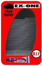 Ribbed Stick On Soles Shoe Repair Black Ladies Nonslip Ribbed Grip Glue Freepost