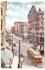 1911 DENVER CO 16th ST FROM ARAPAHOE ST OLD POSTCARD (mailed to apex colo) PC394