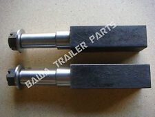 STUB AXLES 50MM SQUARE 12INCH LONG- PARALLEL  MACHINING. TRAILER PARTS!