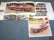 repair manuals literature for 1978 ford ranchero 1978 ford ranchero pickup truck showroom brochure 78 s catalog