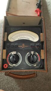 Vintage Universal Avometer Model 8 Mark VII With  Leather Case & Leads (2)