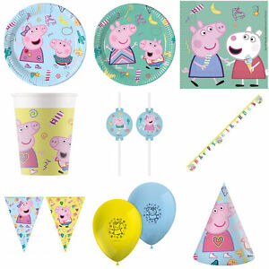 Peppa Pig Party Tableware & Decorations Plates Cups Napkins Tablecover