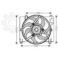 Fan Engine Cooling Radiator Fan Blower Motor Fiat Lancia Punto I