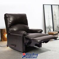 Leather Recliner Sofa Single Couch Reclining Chair Living Room Home Theater Seat
