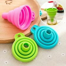 1 PCs Mini Silicone Foldable Collapsible Style Funnel Hopper Home Kitchen Tool