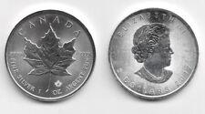 2017 Canada 1 Oncia OZ Argento Foglia Acero Fior di Conio Unc