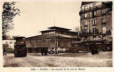 CPA PARIS 19e - Le Marché de la rue de Meaux (301925)