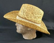 Vitage Resistol Stagecoach Straw Cowboy Hat sz 7.25 Self Conforming, Vinylcote