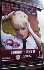 Original Ashley Ashlee Simpson Phoenix Az Live Concert Poster 17 X 11