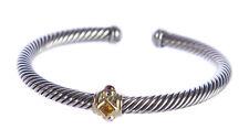 DAVID YURMAN Women's Renaissance Bracelet Citrine & 14K Gold 5mm  NEW