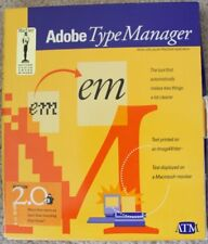 Vintage Apple Mac Software - Adobe Type Manager 2.0 (Retail package, floppy)