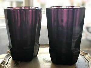 A Pair of Josef Hoffmann and Koloman Moser vases, designed for Wiener Werkstatte