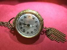 Beautiful Lucern Swiss Brooch Necklace Watch