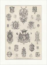 Gewerbemonogramme. Martin Gerlach Namenszüge Buchstaben Logos Holzstich E 18178
