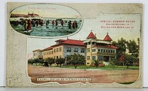 California Long Beach Sanitarium Scenic Vignette Postcard K7