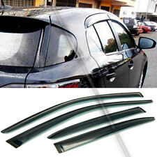 For 11-16 Lexus CT200h 4DR JDM Style Acrylic Black Tinted Window Visor 4 Pcs