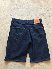 EXCELLENT USED CONDITION Men's Darkwash LEVI'S Jean Shorts Size 34 #569