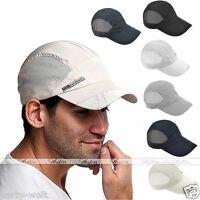 Men Women Dry Adjustable Golf Sport Summer Baseball Cap Sun Hat Mesh Snapback PW