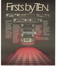 1983 TEN CAR AUDIO Stereo Radio Cassette Player Hi-Fi Vtg Print Ad