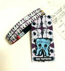 ZOX **TONI BLUE TOOTHACHE** Silver Single Medium MONSTER Wristband w/Card & Pin