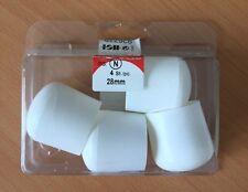 HSI Gleitkappen Kunststoff 28 mm weiß 926779 4 Stück