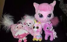 LOT OF Disney Build A Bear Pink Cat, Puppy Surprise, My Little Pony, Ty Beanies