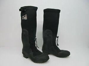 "Chota Wading Boots Black Neoprene 17"" Tall Waterproof Fishing Hunt Boots Mens 6"