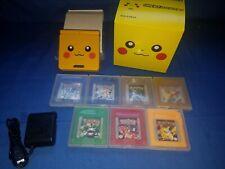 Custom Nintendo Gameboy Advance Sp Pikachu 7 Pokemon Games Bundle