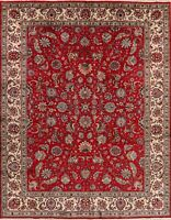 Floral Traditional Oriental Area Rug Hand-Knotted Wool Living Room Carpet 9x12