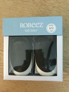 Robeez Soft Soles baby/ toddlers  shoes 6-12 months charcoal