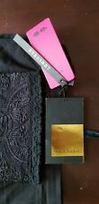 BNWT Straight Emroidered detail Khaadi Trousers Size 14 Black