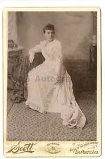 19th Century Fashion - Original 19th Century Cabinet Card Photo - La Porte, IN