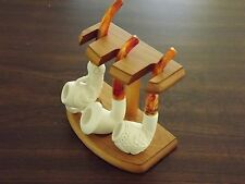Best Seller Standard Turkish 3 Meerschaum Pipe Set Claw Dragon Calabash W Stand