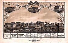 1869 Battle Creek mills Michigan map Genealogy atlas poster manufacturing Mi42