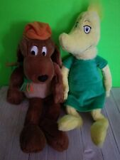 "Kohl's Cares Dr Seuss Go Dog Go Plush Stuffed Animal Toy Brown Puppy Hat 16"" lot"