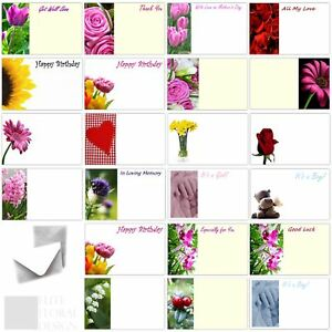 50 x Florist Flower Message Cards Birthday Anniversary Funeral Mothers Day Blank