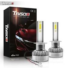 H1 LED 11000LM Pair Headlight Replace Xenon Lamp COB Car Light Bulbs Kit 6000K