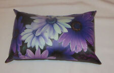 Purple Flowers Pillow Synthetic Leather Flower Time Couch Defy Brands Display