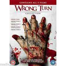 Wrong Turn 1 2 3 4 & 5: The Complete Collection Box Set | New | Sealed | DVD