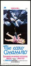 MIO CARO ASSASSINO LOCANDINA CINEMA FILM GIALLO THRILLER 1972 PLAYBILL POSTER